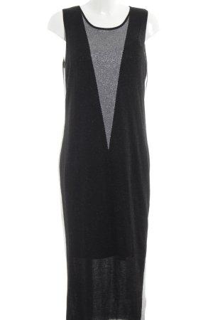 Liu jo Robe en maille tricotées noir-argenté élégant