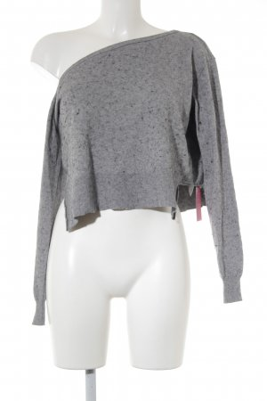 Liu jo Knitted Sweater grey-black flecked simple style