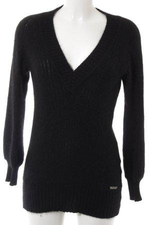 Liu jo Pull tricoté noir style décontracté