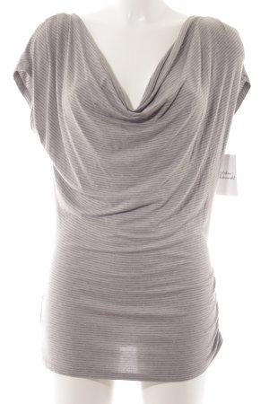 Liu jo T-Shirt dark grey-light grey striped pattern casual look