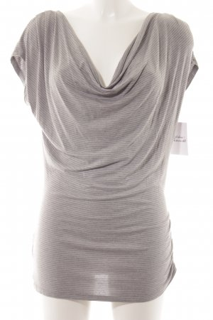 Liu jo T-Shirt dunkelgrau-hellgrau Streifenmuster Casual-Look