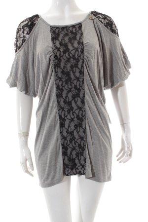 Liu jo T-Shirt hellgrau-schwarz Casual-Look