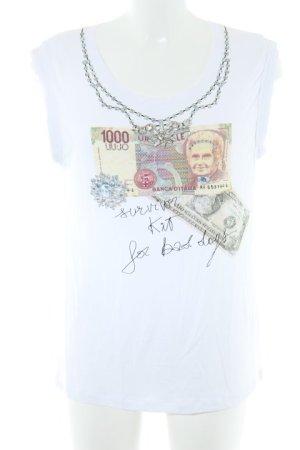 Liu jo T-Shirt Motivdruck Casual-Look