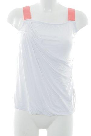 Liu jo Tanktop weiß-neonorange sportlicher Stil
