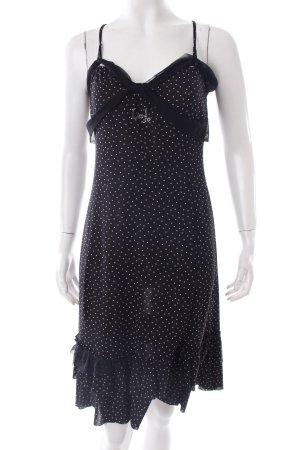 Liu jo Trägerkleid schwarz-weiß Schmucksteinverzierung