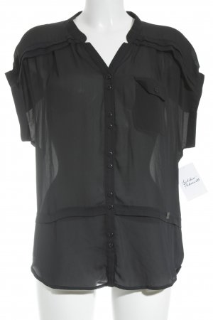 Liu jo Transparenz-Bluse schwarz Casual-Look