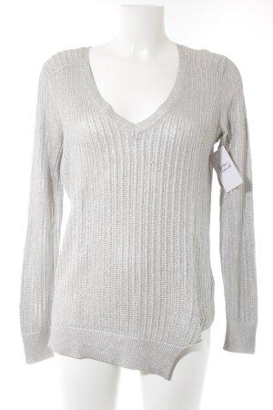 Liu jo V-Ausschnitt-Pullover silberfarben Casual-Look