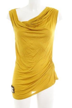 Liu jo Top collo ad anello giallo scuro stile casual