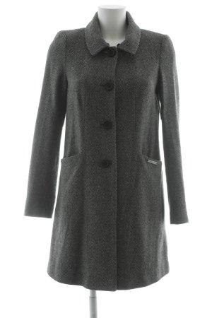 Liu jo Wool Coat light grey-black zigzag pattern casual look