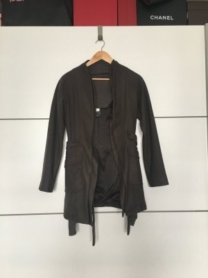 Liu jo Manteau en laine gris brun
