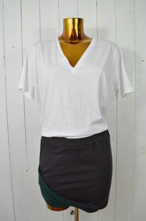 Falda stretch verde oscuro-gris antracita Algodón