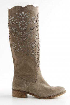 Liva Loop Stivale western marrone motivo floreale elegante
