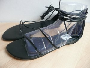 Sandalo romano nero Pelle