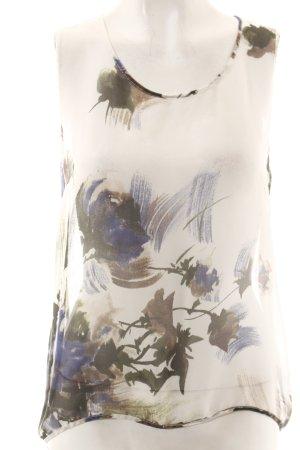 Liviana Conti Seidenbluse weiß-blau Blumenmuster Street-Fashion-Look
