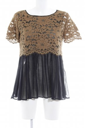 Liviana Conti Lace Top black-light brown casual look