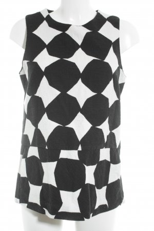 Liviana Conti Tunic black-white spot pattern business style