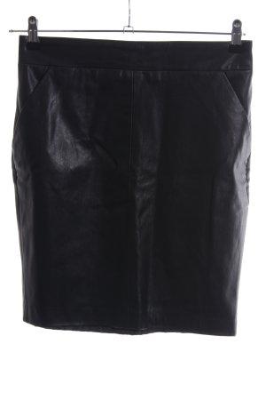 Livre Kunstlederrock schwarz extravaganter Stil