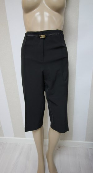 3/4 Length Trousers black-gold-colored