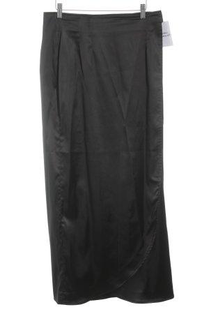 Liz Weinmann Falda cruzada negro elegante