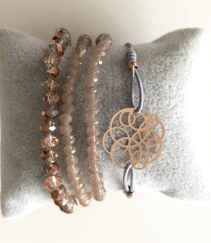 Lizas Armband Set rosegold grau