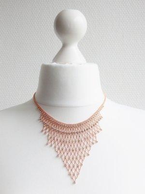 Collar estilo collier color oro-blanco