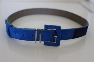 L.k. bennett Ceinture en cuir bleu fluo-bleu cuir