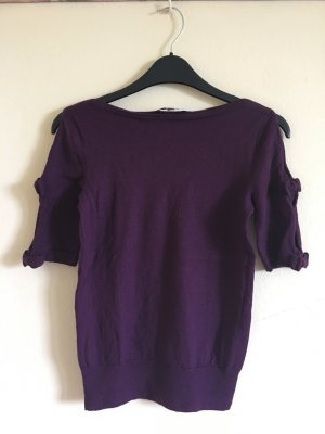 L.k. bennett Knitted Top purple merino wool
