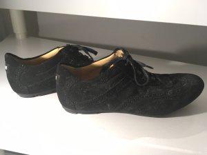 LLOYD Damen Sneaker Veloursleder schwarz