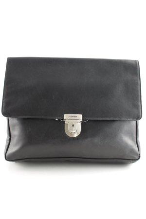 Lloyd Handtasche schwarz-silberfarben Business-Look