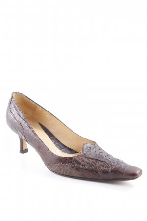Lloyd High Heels braun-dunkelbraun Animalmuster Animal-Look