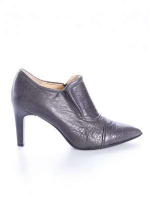 High-Front Pumps anthracite-grey leather