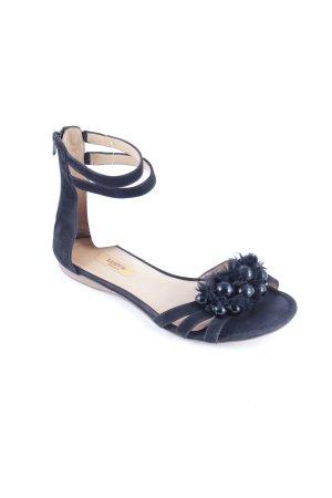 Lloyd Riemchen-Sandalen schwarz klassischer Stil