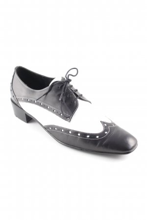 Lloyd Lace Shoes black-white elegant