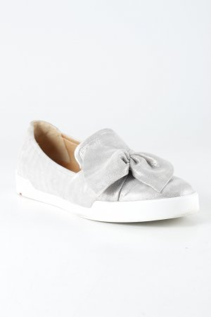Lloyd Slippers silver-colored-light grey striped pattern extravagant style