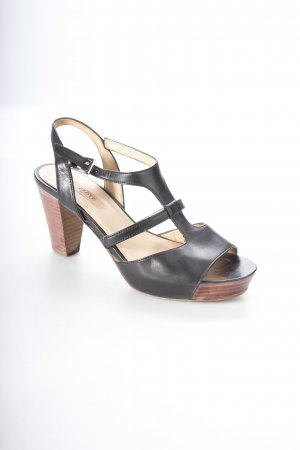 Lloyd T-Strap Sandals black-brown classic style
