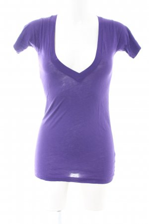 Lna T-Shirt lila Casual-Look