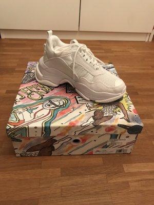 Lo Fi Sneakers White Mesh Jeffrey Campbell