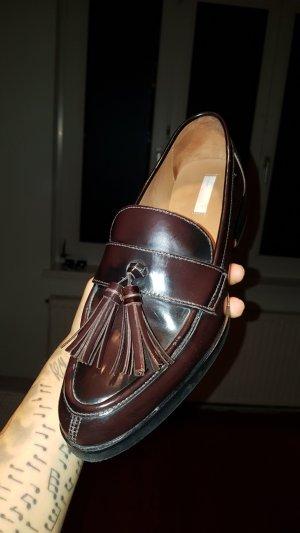 H&M Premium Patent Leather Ballerinas taupe