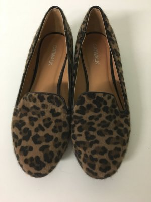 Catwalk Scarpa slip-on marrone-nero Pelliccia ecologica