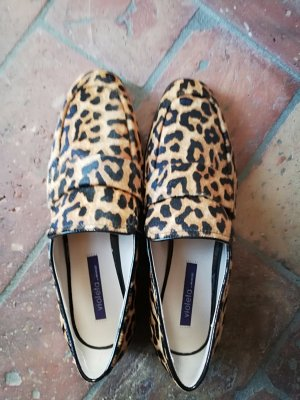 Loafer aus Leder mit animal print