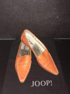 Loafer Ballerinas echtleder JOOP! Orange Gr 38/39