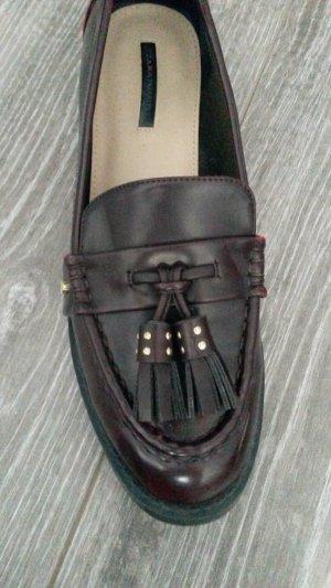 Zara Trafaluc Zapatos formales sin cordones burdeos