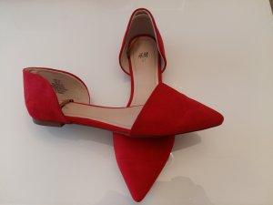 Ballerinas with Toecap brick red