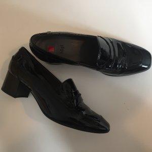 Loafer Lack echt Leder Gr. 37 1/2 schwarz neu