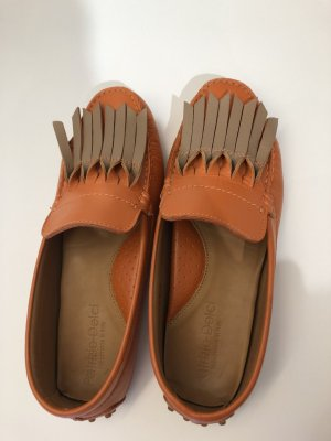 Patrizio Dolci Mocassins orange-chameau cuir