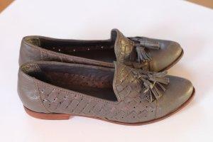 Loafer mit Tasseln in grau von Zign
