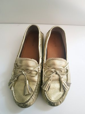 Coach Slippers gold-colored leather