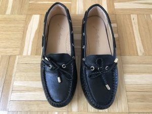 Loafer Mokkasins in schwarz aus Ledervon John Bakee's London