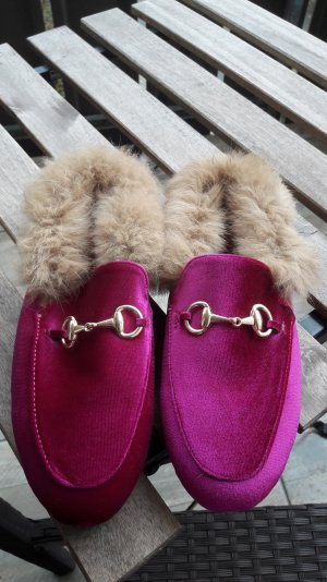Loafer Princetown Shearling Mule Mules Designer Style Fur Loafer Slipper