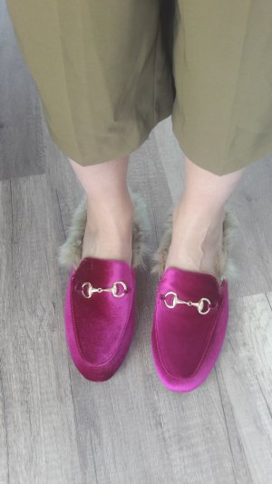Loafer Princetown Shearling Mule Mules Designer Style Fur Loafer Slipper